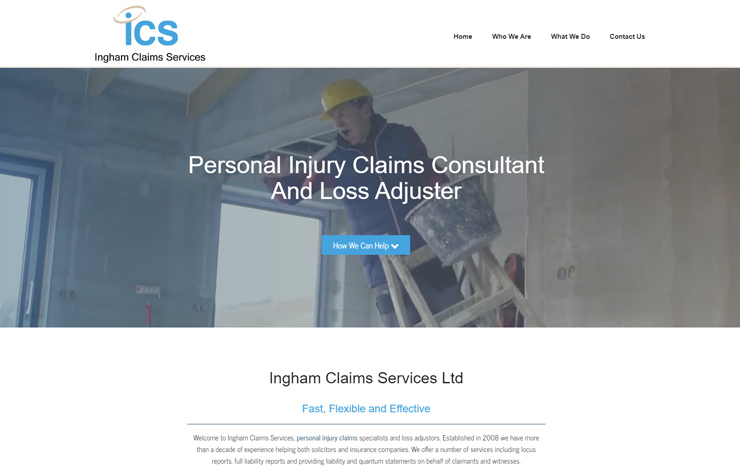 Website Design for Personal Injury Claims Loss Adjuster | Ingham Claims Services