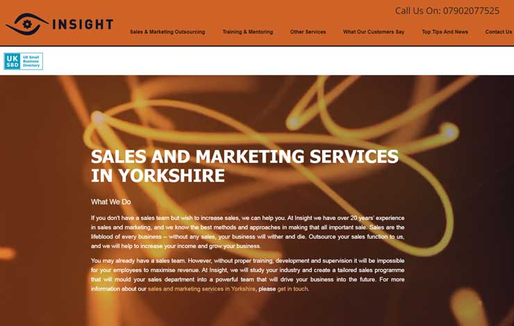 Website Design for Sales and Marketing in Yorkshire | Insight Marketing