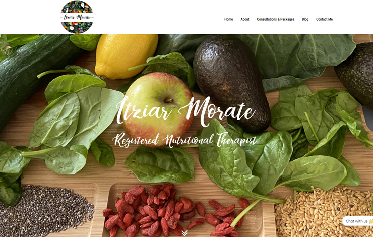 Website Design for Nutrition for young adults | Itziar Morate Nutrition