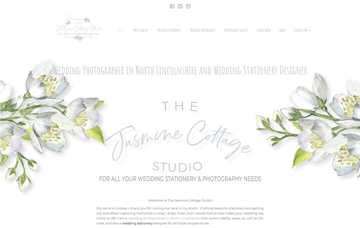 Website Design for Wedding photographer in North Lincolnshire