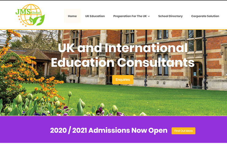 Website Design for International Education Consultants | JMS Global