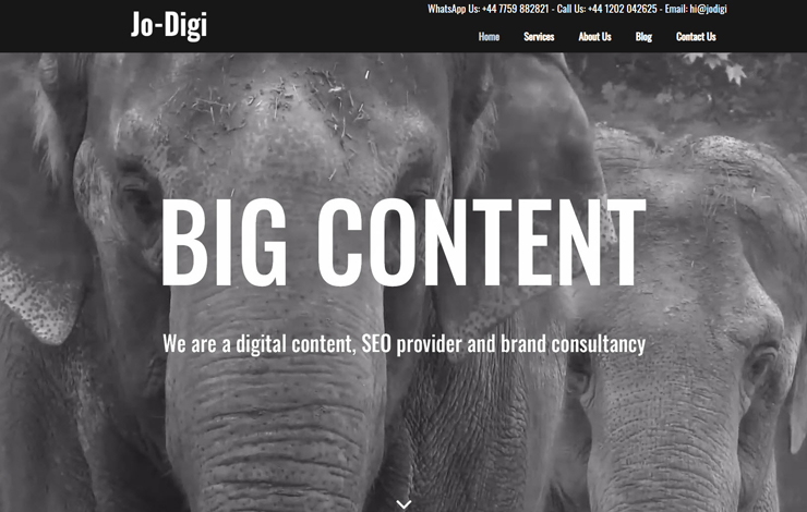 Website Design for Jo-digi | SEO and digital content copywriting