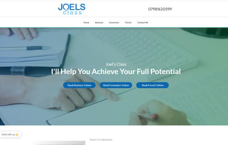Joel's Class | Tutor in Colchester
