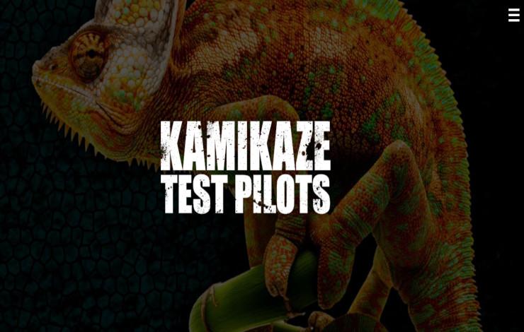 Website Design for Rock Band - Kamikaze Test Pilots