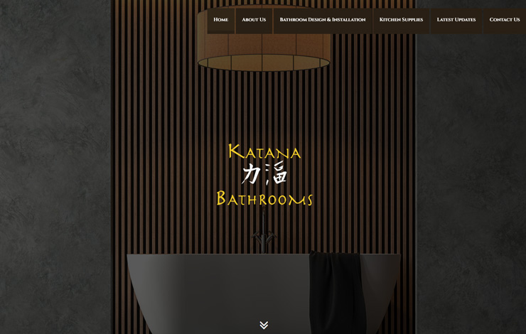 Website Design for Bathroom Design in Glasgow | Katana Bathrooms