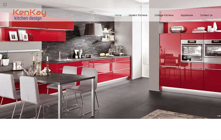 Website Design for German Kitchens in East Antrim | Kenkay Kitchens
