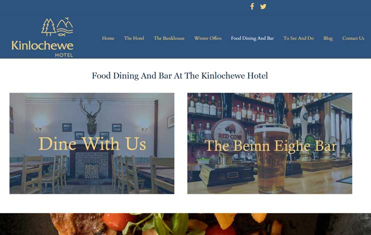 Website Design for Kinlochewe Hotel in Torridon