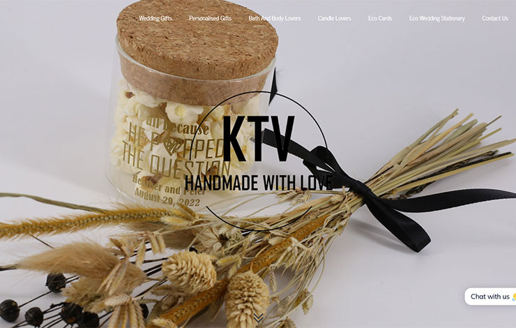 Personalised Gifts and Wedding Gifts | KTV Handmade With Love