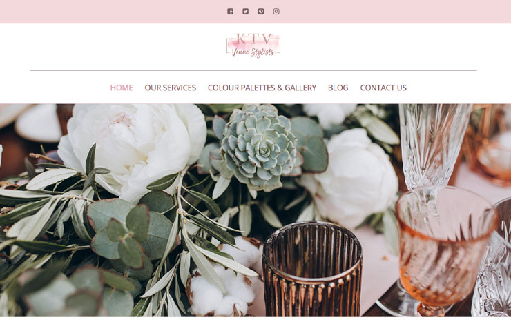 Website Design for Weddings in Northamptonshire | KTV Venue Stylists Ltd.
