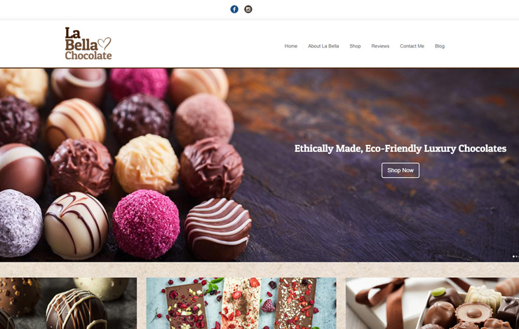 Website Design for La Bella Chocolates | Buy Chocolate Gifts Online UK