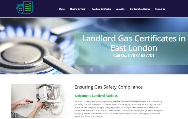 Landlord Gas Certificates in London |  Landlord Facilities