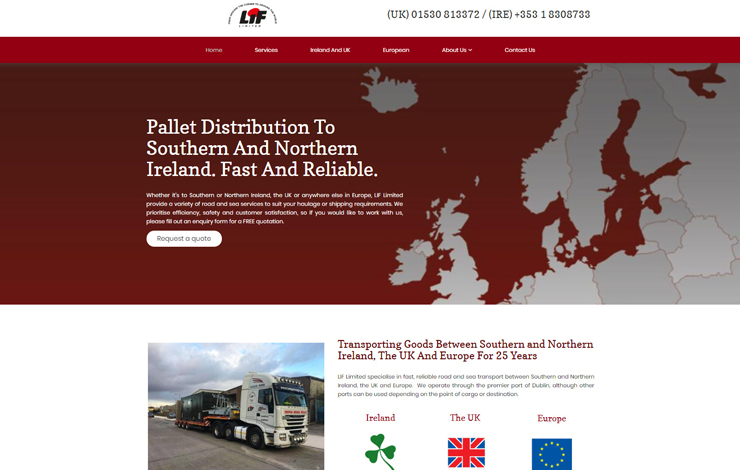 Pallet distribution to Southern and Northern Ireland