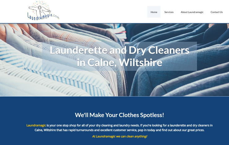 Website Design for Launderette and Dry Cleaners in Calne