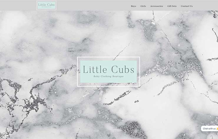 Website Design for Little Cubs | Baby Clothing Boutique