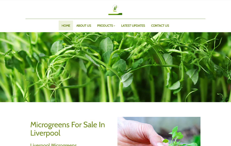Website Design for Microgreens For Sale In Liverpool | Liverpool Micro Greens