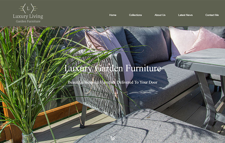 Website Design for Luxury Garden Furniture | By Luxury Living Garden Furniture