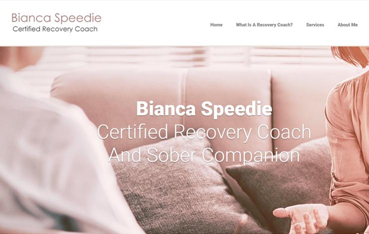 Website Design for Certified Recovery Coach | Bianca Speedie