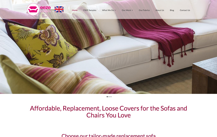 Website Design for Replacement loose sofa covers and slip covers