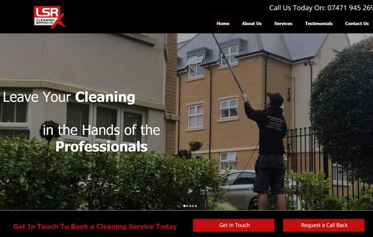 Website Design for Cleaning in Surrey | LSR Cleaning