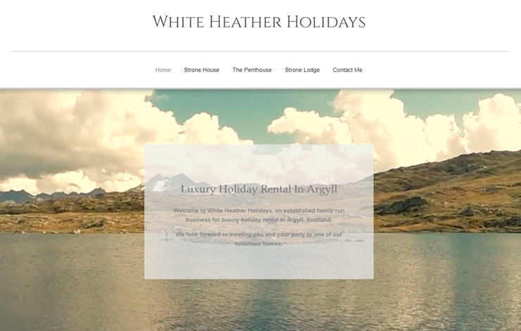Website Design for Luxury Holiday Rental in Argyll | White Heather Holidays