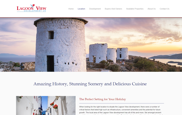 Website Design for Luxury Villas And Apartments In Turkey