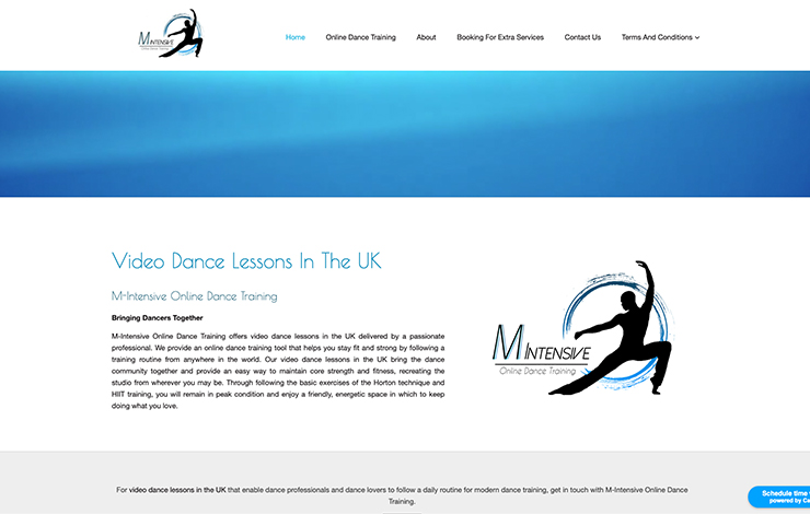 Website Design for Video Dance Lessons in UK | M-Intensive