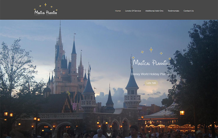 Website Design for Disney World Holiday Planning in UK