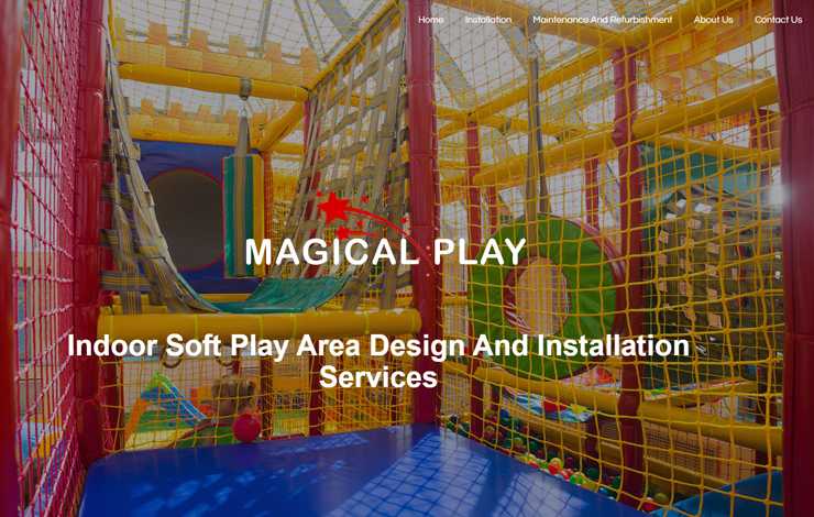 Website Design for Soft play area design | Magical Play