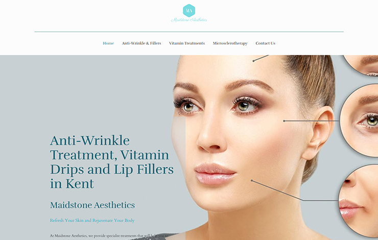 Website Design for Lip fillers in Kent | Maidstone Aesthetics