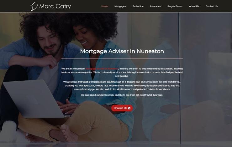 Website Design for Mortgage Adviser in Tamworth, Staffordshire