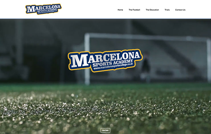 Website Design for Football Academy In London