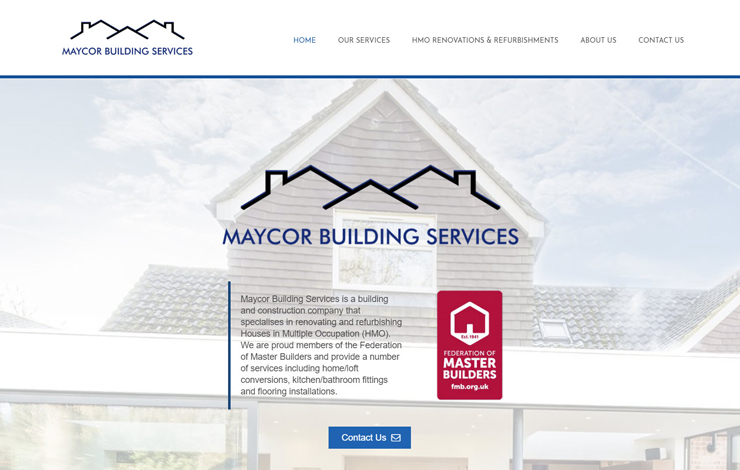 Website Design for Renovation specialist construction company in North London | Maycor