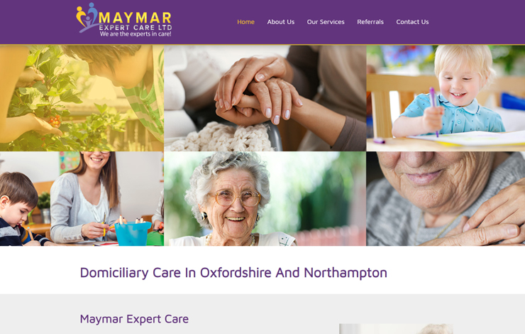 Website Design for Domiciliary Care in Oxfordshire | Maymar Expert Care Ltd.