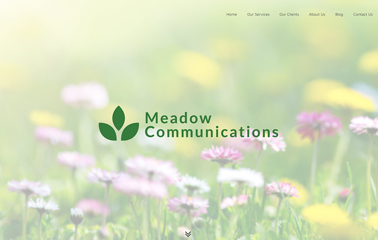 Website Design for Marketing and PR agency in Wiltshire | Meadow Communications