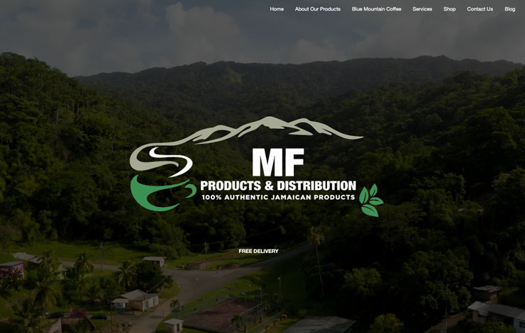 Website Design for Specialty Coffee Suppliers in Kent | MF Products UK