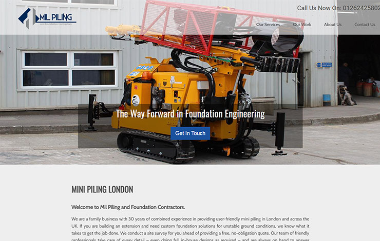Mini Piling London | Mil Piling and Foundation Contractors