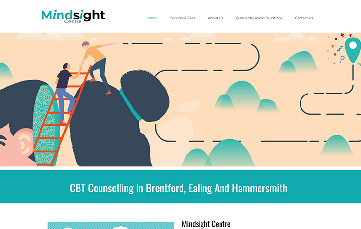 Website Design for CBT Counselling In Brentford | Mindsight Centre