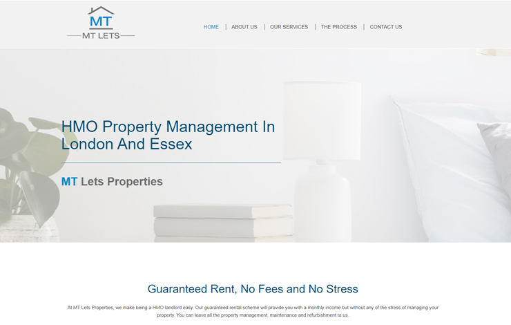 Website Design for Property Management in London | MT Lets Properties