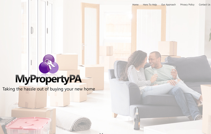 Website Design for My Property PA   One-stop shop for purchasing property in the South East