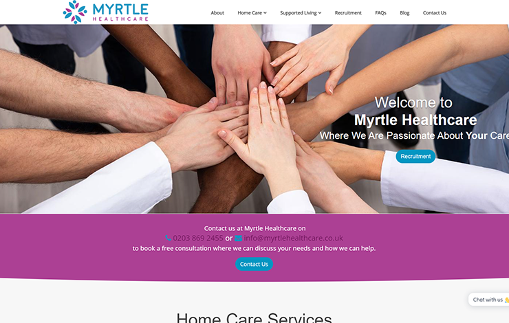 Home Care Services UK | Myrtle Healthcare