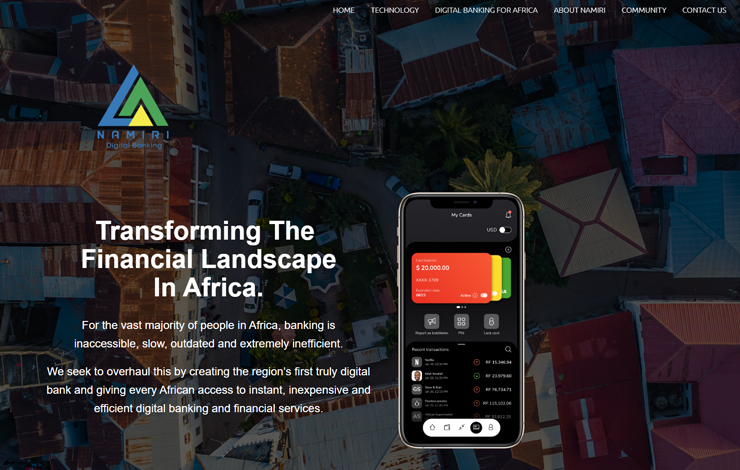 Website Design for Namiri Bank | Digital Banking for Africa