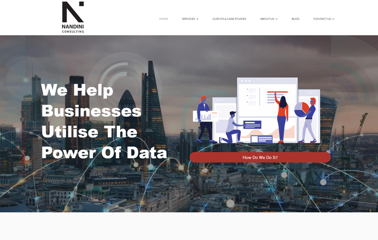 Website Design for Data management specialists and data consultants UK