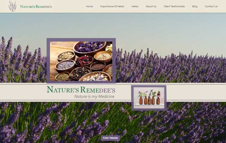 Website Design for Herbal Practitioner And Herbal Remedy Supplier | Natures Remedee's