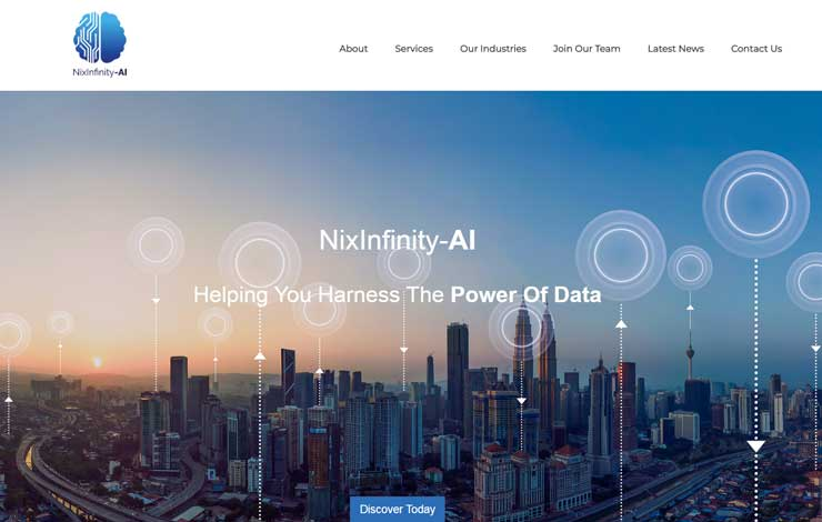 Website Design for Data Strategy Consultants | Nix infinity AI