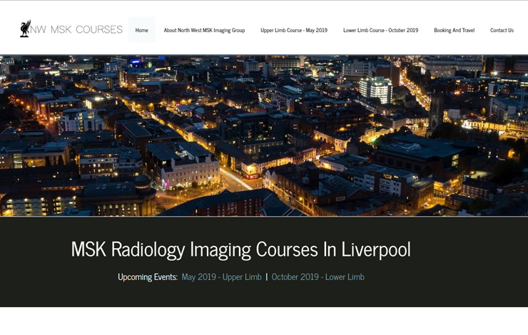 Website Design for Radiology imaging conference Liverpool