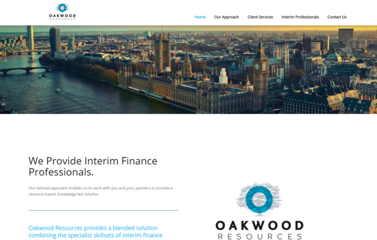 Website Design for Interim Financial Professionals in London