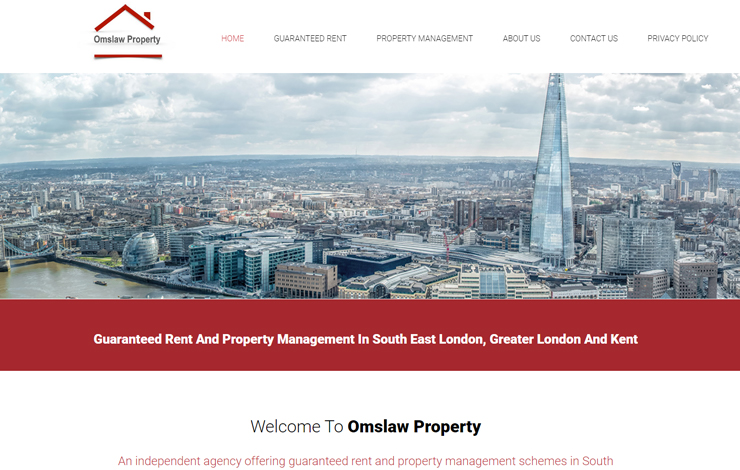 Website Design for Guaranteed rent and property management