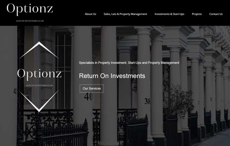 Website Design for Return on Investments and Property Management