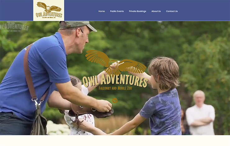 Website Design for Birds of Prey shows in Yorkshire