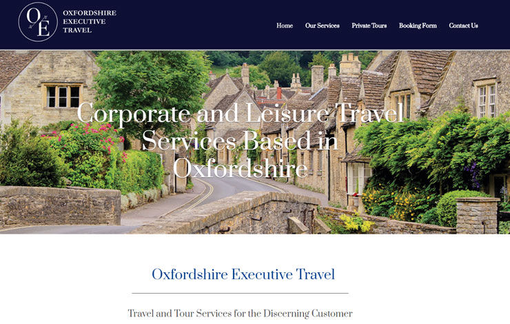 Website Design for Corporate Travel Services in Oxford and Cotswolds | Oxfordshire Executive Travel